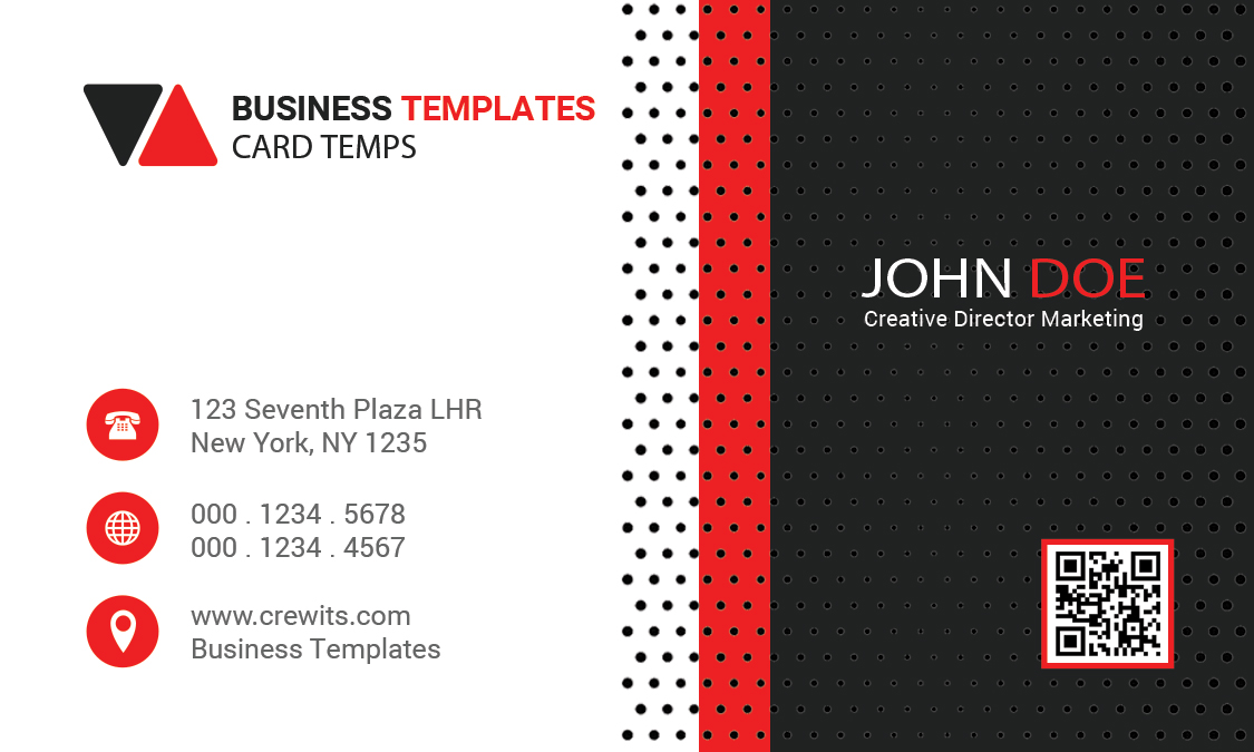 Free Business card front view